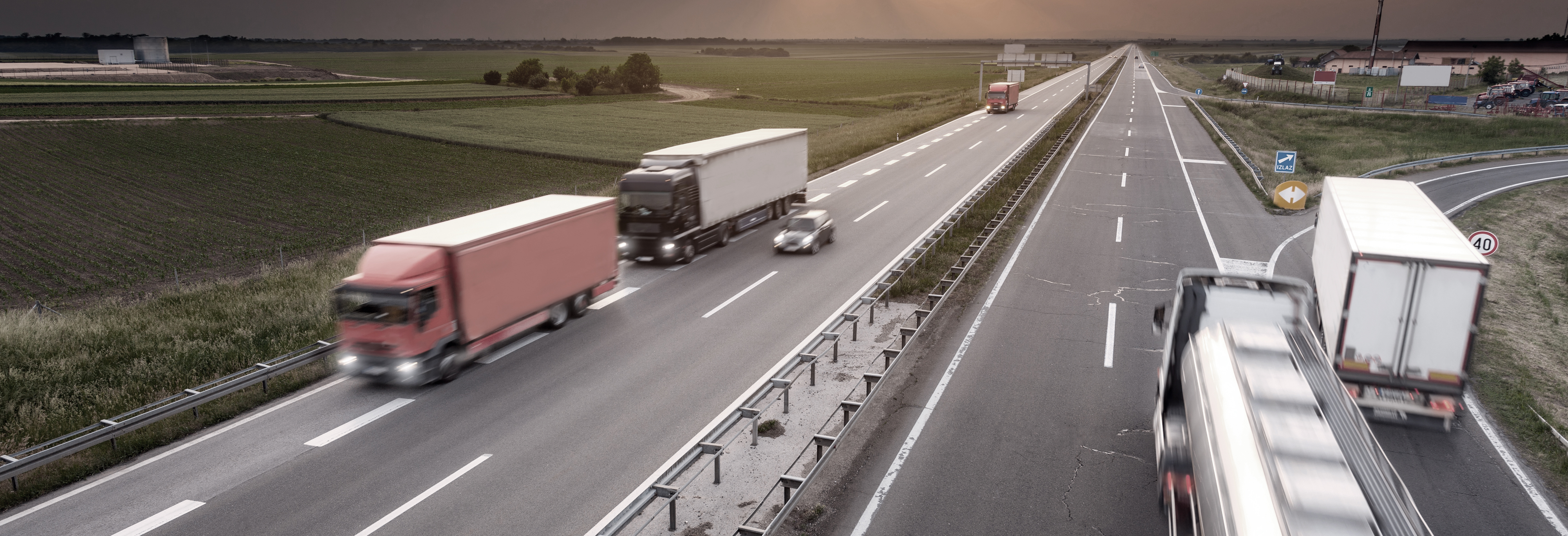 Trucks on Highway - NaviTrans